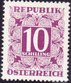 Austria 1949 Postage Due Stamps - Square frame with digit (1st Group) q.jpg