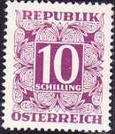 Austria 1949 Postage Due Stamps - Square frame with digit (1st Group) q