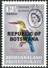 Botswana 1966 Overprint REPUBLIC OF BOTSWANA on Bechuanaland 1961 h