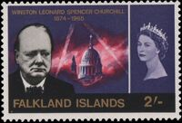 Falkland Islands 1966 Churchill Memorial d
