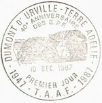 French Southern and Antarctic Territories 1988 40th Anniversary of the French Polar Expeditions PMa