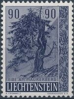 Liechtenstein 1958 Native Trees and Shrubs (2ndt Group) c