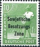 Russian Zone 1948 Overprint - Sowjetische Besatzungs Zone d