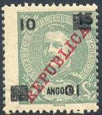 Angola 1912 D. Carlos I Overprinted and Surcharge aa