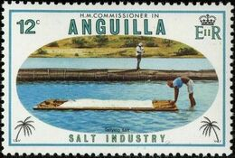 Anguilla 1980 Salt Industry b