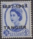 British Offices in Tangier 1957 Centenary Overprint (1857-1957) g