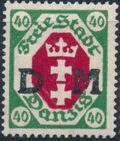 """Danzig 1921 Issues from 1921-1922 Overprinted """"D M"""" g"""