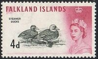 Falkland Islands 1960 Queen Elizabeth II and Birds f