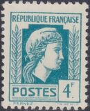 France 1944 Series d'Algiers (Cock of Alger and Marianne of Fernez) q