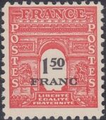 France 1945 Arc of the Triomphe - Allied Military Government g