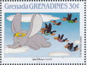 Grenada Grenadines 1988 The Disney Animal Stories in Postage Stamps 4h