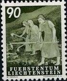 Liechtenstein 1951 Farm Labor k