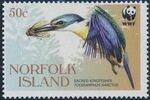 Norfolk Island 2004 WWF Sacred Kingfisher b