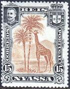 Nyassa Company 1901 D. Carlos I (Giraffe and Camels) d