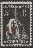 Portugal 1928 Ceres Surcharged b