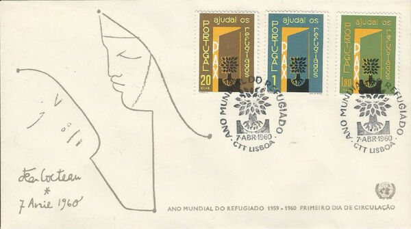 Portugal 1960 International Year of Refugees FDCb