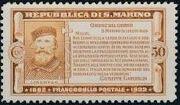 San Marino 1932 50th Anniversary of Giuseppe Garibaldi Death d