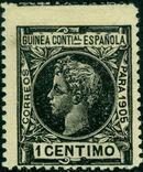 Spanish Guinea 1905 Alfonso XIII a