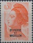 St Pierre et Miquelon 1986 Liberty from France Overprinted ST-PIERRE ET MIQUELON d