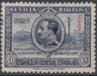Tangier-Spain 1929 Seville-Barcelona Issue of Spain Overprinted in Blue or Red g
