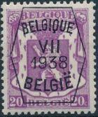 Belgium 1938 Coat of Arms - Precancel (7th Group) b