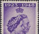 Cyprus 1948 Silver Wedding of King George VI & Queen Elizabeth