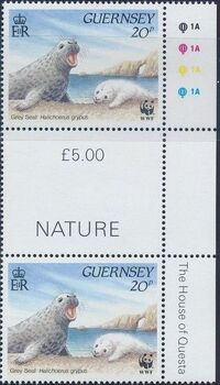 Guernsey 1990 WWF Marine Life k