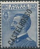 "Italy (Aegean Islands)-Castelrosso 1924 Definitives of Italy - Overprinted ""CASTELROSSO"" e"
