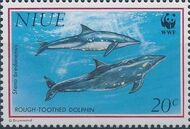 Niue 1993 WWF Dolphins a