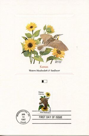 United States of America 1982 State birds and flowers FOLb7