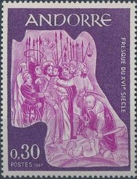 Andorra-French 1967 Frescoes b