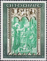 Andorra-French 1971 Frescoes a