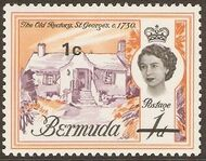 Bermuda 1970 Definitive Issue of 1962 Surcharged a