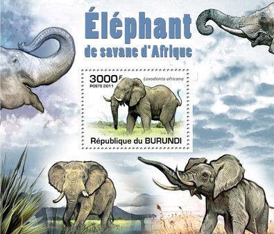 Burundi 2011 Elephants of the African Savanna SSg