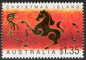 Christmas Island 2002 Year of the Horse b