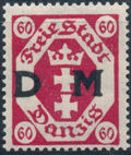 """Danzig 1921 Issues from 1921-1922 Overprinted """"D M"""" i"""