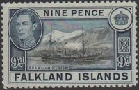 Falkland Islands 1938 George VI and Landscape (1st Issue) e