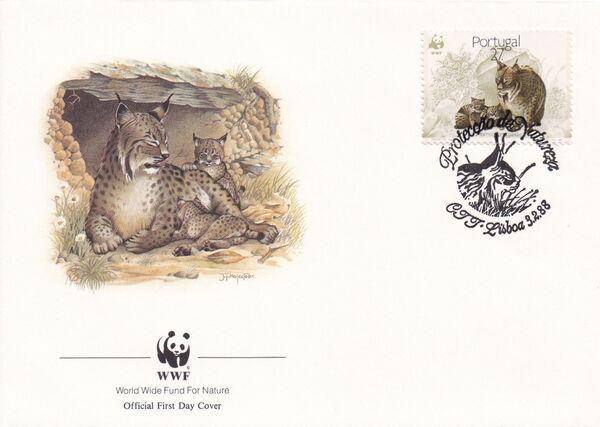 Portugal 1988 WWF Iberian Lynx (Lynx pardina) FDCe