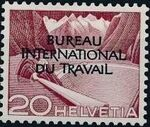 Switzerland 1950 Landscapes and Technology Official Stamps for The International Labor Bureau c