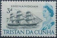 Tristan da Cunha 1965 Queen Elizabeth II and Ships e