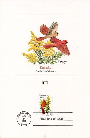 United States of America 1982 State birds and flowers FOLb8