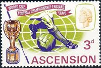 Ascension 1966 World Cup Soccer a