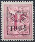 Belgium 1964 Heraldic Lion with Precancellations k