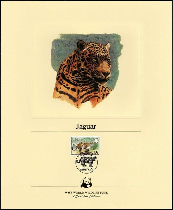 Belize 1983 WWF - Jaguar OPEb