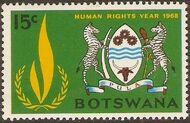 Botswana 1968 International Human Rights Year b