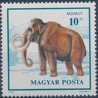 Hungary 1990 Prehistoric Animals f