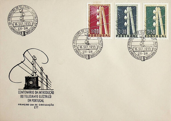 Portugal 1955 Centenary of Electric Telegraph System in Portugal d