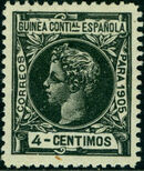 Spanish Guinea 1905 Alfonso XIII d