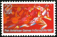 United States of America 1987 Pan American Games, Indianapolis a