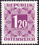 Austria 1949 Postage Due Stamps - Square frame with digit (1st Group) l